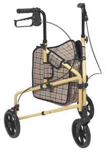 Drive Winnie 3-Wheel Walker with Bag (Lite Supreme) - NEW