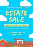 Community Thrift Store Estate Sale. Make an offer!