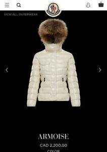 ONE YEAR OLD MONCLER WOMENS JACKET SIZE 4 WHITE