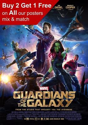 Guardians Of The Galaxy Movie Poster A5 A4 A3 A2 A1