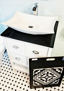 VANITY CABINET MIRROR BATHTUB TILE FAUCET SINK SHOWER KITCHEN...