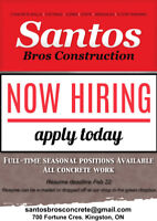 Looking for concrete footing & foundation laborers..........