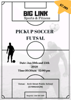 PICKUP INDOOR SOCCER/FUTSAL No commitments!!