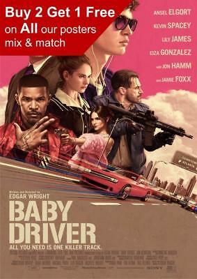Baby Driver 2017 Movie Poster A5 A4 A3 A2 A1