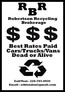 **WE BUY VEHICLES** **BEST RATES PAID** **DEAD OR ALIVE**