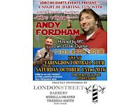 Tickets to Andy Fordham Darts Exhibition!