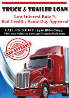 TRUCK LOAN APPROVAL, SAME DAY