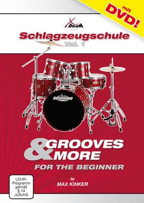 Schlagzeugschule + DVD, Schule für Schlagzeug Band1