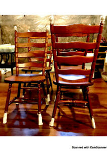 Dining chairs (6) - cherry wood