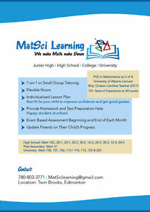 MatSci Learning - We make Math make Sense Edmonton Edmonton Area image 3
