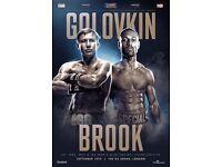 Golovkin vs Brook boxing tickets
