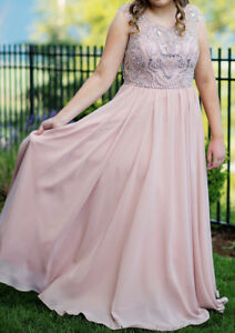 Jadore Blush Colour Prom Dress (size 14)