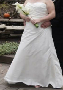 Simple wedding dress for sale...size 16-18.