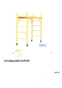 1000 lbs scaffolding and outrigger set (new lower price)