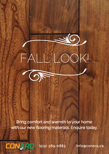 Fall lookbook : Flooring Installation / Refinishing / Stairs Cambridge Kitchener Area image 1
