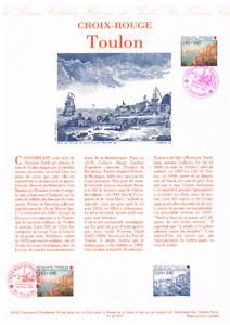 Feuillet Musée de la poste France 1991 Croix Rouge Toulon