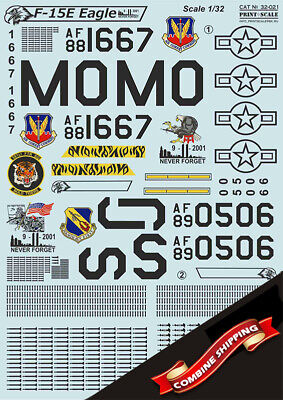 Print Scale 32-021 Decal for McDonnell Douglas F-15 Eagle 1/32 for sale  Shipping to United States
