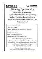 NUDURA INSTALLATION COURSE MAY 7TH, 2018 IN MINDEN