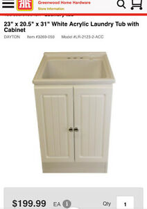 Laundry tub and cabinet