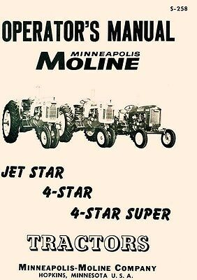 Minneapolis Moline Jet Star 4 - Super Operators Manual