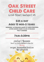 Oak Street Child Care-Family Approved Child Care Available!!