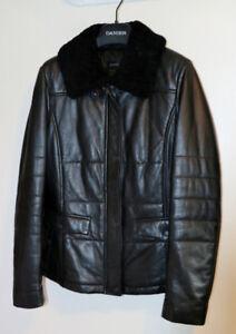 Danier Black Leather Womens Jacket