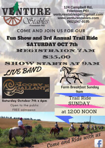 Horse Show LIVE BAND and 3rd Annual Trail Ride