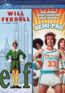 Will Ferrell Double Feature, Elf and Semi-Pro New & Sealed DVD