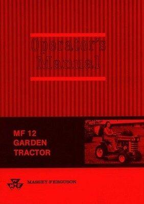 Massey Ferguson Mf 12 Mf12 Garden Tractor Owner Operators Manual Late Models