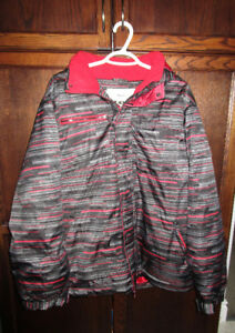 Men's Black/Red Athletic Works Winter Jacket size Medium