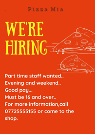 Full time /part time/ Kitchen/grill/chef