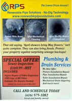 Plumbing Sewer Inspection Spring PROMOTION