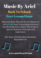 FREE Singing  Lesson- Like and Share on Facebook to Win!