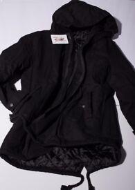 Parka Jacket for Man, size M/L, colour black, NEW
