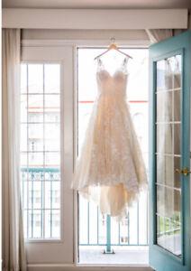 Stunning designer wedding gown
