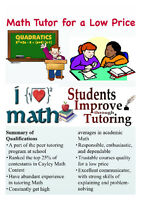 ★Math Tutor for a Low Price★