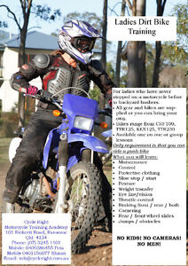 Ladies Dirt Bike Training and School Ransome Brisbane South East Preview
