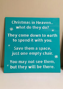 """Hand Painted Wood Christmas Signs 12"""" x 12"""", various colors Strathcona County Edmonton Area image 1"""