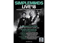 2x Simple Minds tickets for Manchester 14th Feb.