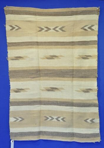 """Navajo banded gold tone blanket; Chinlee Classic Revival 43"""" x 29"""""""