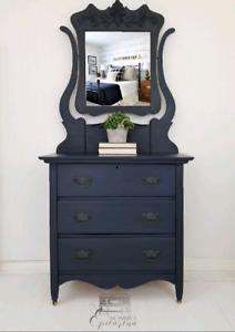 Antique Dresser with Mirror (Washstand)