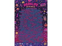 Parklife 2017 weekend tickets x 2