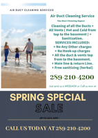 Air Duct Cleaning (Spring Special Promotion).