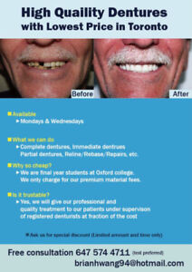 dentures with lowest price in Toronto