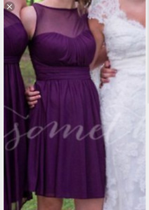 5 Bridesmaid PLUM Dresses Multiple sizes