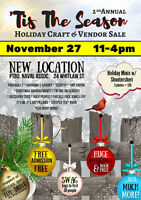 2nd Anual Tis The season craft and vendor holiday shopping event