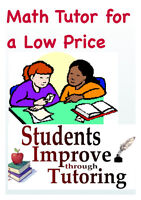 EXPERIENCED MATH TUTOR FOR A LO PRICE