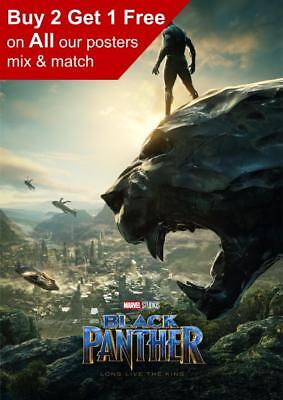 Marvel Black Panther Poster A5 A4 A3 A2 A1
