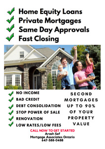 Second & Private Mortgage Approved Based On Equity! FAST CLOSING