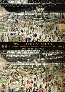 NEW! Gibsons Waterloo Station War & Peace 1000 piece train station jigsaw